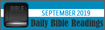 Daily Bible Readings for September 2019