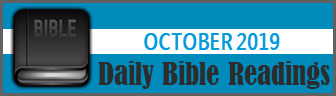 Daily Bible Readings for October 2019