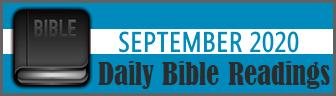 Daily Bible Readings for September 2019