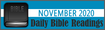 Daily Bible Readings for November 2019